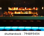 blur alcohol bottle on bar...   Shutterstock . vector #794895454