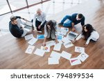 planning strategy together.... | Shutterstock . vector #794899534