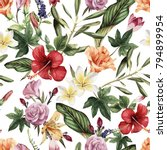 seamless floral pattern with... | Shutterstock .eps vector #794899954