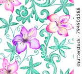 seamless bright pattern with... | Shutterstock . vector #794901388