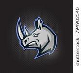 rhinos head logo for sport club ... | Shutterstock .eps vector #794902540