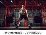 muscular fitness man doing... | Shutterstock . vector #794905270