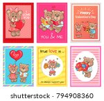 happy valentine day i love you... | Shutterstock .eps vector #794908360