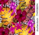 watercolor seamless pattern... | Shutterstock . vector #794908894