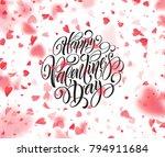 happy valentines day... | Shutterstock .eps vector #794911684