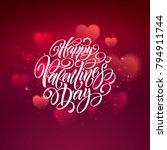 happy valentines day... | Shutterstock .eps vector #794911744