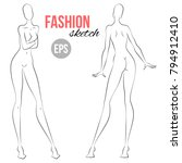 women's figure sketch.... | Shutterstock .eps vector #794912410