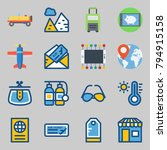 icons set about travel. with... | Shutterstock .eps vector #794915158
