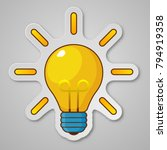 light bulb with rays shine.... | Shutterstock .eps vector #794919358