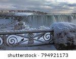 frozen niagara falls | Shutterstock . vector #794921173