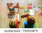 kids learning numbers  mental... | Shutterstock . vector #794923879
