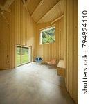 modern house  wooden interiors... | Shutterstock . vector #794924110