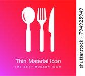 restaurant eating tools set of...   Shutterstock .eps vector #794925949