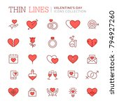st. valentine's day icons....   Shutterstock .eps vector #794927260