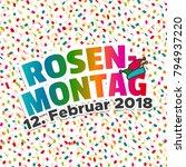 karneval rosenmontag 2018  ... | Shutterstock .eps vector #794937220
