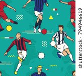 football or soccer players | Shutterstock .eps vector #794946619