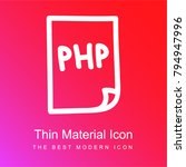 php file hand drawn interface... | Shutterstock .eps vector #794947996