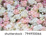 Stock photo beautiful flowers background for wedding scene 794950066