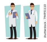 medical doctors character... | Shutterstock .eps vector #794951110