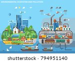 ecological ecosystem and... | Shutterstock .eps vector #794951140