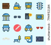icons set about travel. with... | Shutterstock .eps vector #794952184