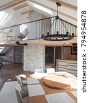 Small photo of Attic interior with gallery