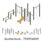 street workout area. outdoor... | Shutterstock .eps vector #794956009