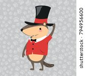 happy groundhog day design with ... | Shutterstock .eps vector #794956600