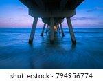 long exposure of beach under... | Shutterstock . vector #794956774