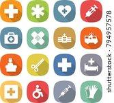 flat vector icon set   medical... | Shutterstock .eps vector #794957578