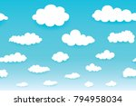 sky with clouds  on a sunny day....   Shutterstock .eps vector #794958034