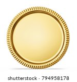 gold coin sign isolated on a... | Shutterstock . vector #794958178