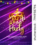 illustration of mardi gras... | Shutterstock .eps vector #794958796