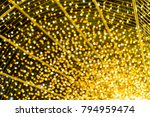 texture of yellow christmas... | Shutterstock . vector #794959474