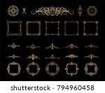 gold vintage decor elements and ... | Shutterstock .eps vector #794960458