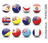 polynesia country national... | Shutterstock .eps vector #794961388