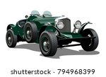 cartoon vintage car. available...