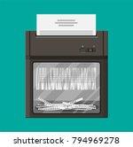 shredder machine. office device ... | Shutterstock .eps vector #794969278
