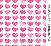 cute hand drawn hearts with... | Shutterstock .eps vector #794972488