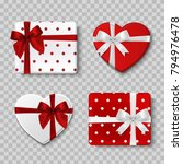 valentines day gift boxes. top... | Shutterstock .eps vector #794976478