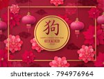 2018 chinese new year. year of... | Shutterstock .eps vector #794976964