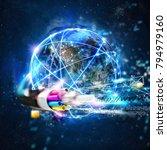 fast internet worldwide... | Shutterstock . vector #794979160