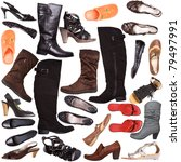 different shoes for females  ... | Shutterstock . vector #79497991
