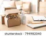 preparing parcels for shipment... | Shutterstock . vector #794982040