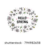 hello spring vector cartoon... | Shutterstock .eps vector #794982658