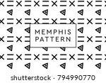 memphis vector objects pattern. ... | Shutterstock .eps vector #794990770