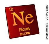 neon  chemical element number... | Shutterstock . vector #794991889