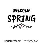 hello spring vector cartoon... | Shutterstock .eps vector #794992564