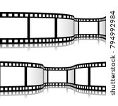 film strip vector illustration | Shutterstock .eps vector #794992984