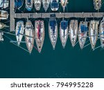 aerial view of sailboats and... | Shutterstock . vector #794995228